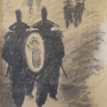 Carpi Aldo - GESU' BAMBINO E LA LEGGE - carboncino su carta